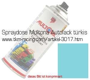 Spraydose Multona Autolack Turkis In Farben Standard Farben