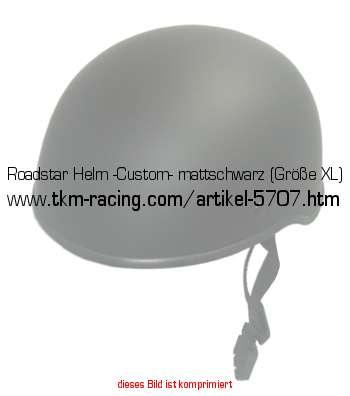 roadstar helm custom mattschwarz gr e xl in. Black Bedroom Furniture Sets. Home Design Ideas